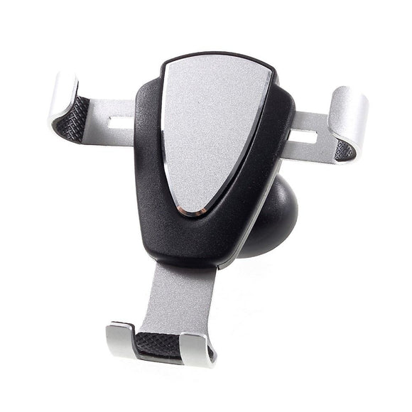 Gravity Air Vent Phone Car Mount Holder with Clip for Vivo V19 (2020) - Black