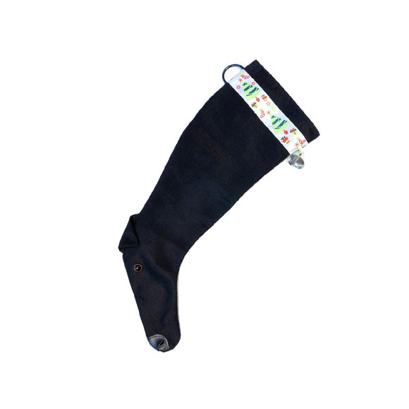 Greyhound Christmas Stocking - Black