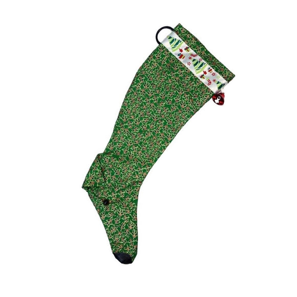 Christmas Stocking - Green Holly