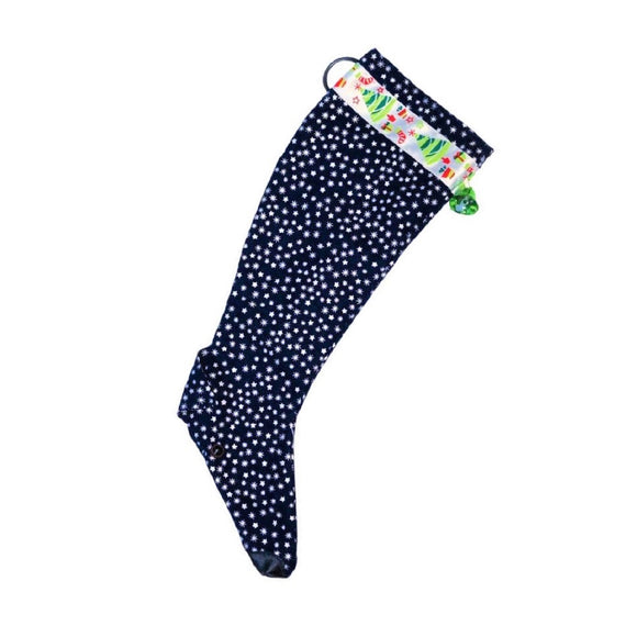 Christmas Stocking - Navy with Silver Stars