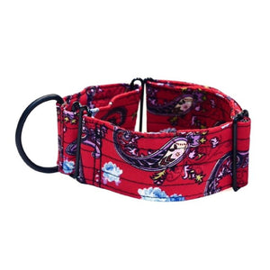 "Red Paisley 2"" Collar"