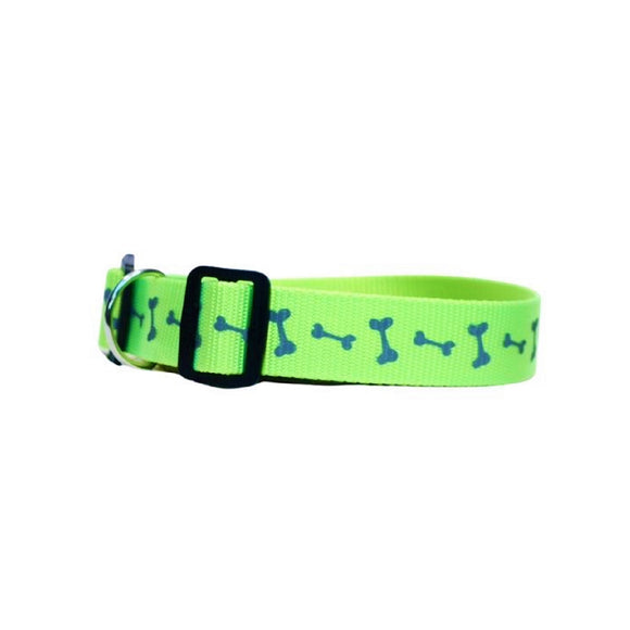 Green with Dog Bones Tag Collar