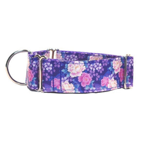 "Purple and Pink Flowers 1.5"" Collar"