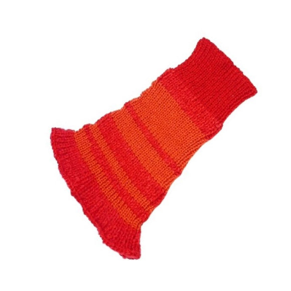 Red and Orange - Knitted Snood