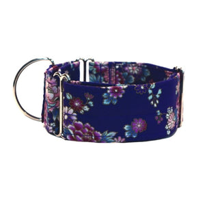 "Purple with Flowers 2"" Collar"