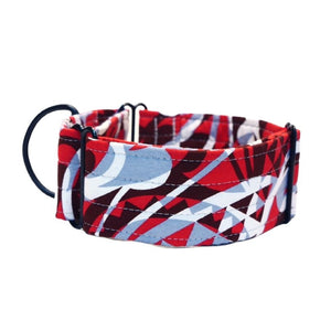"Red with Funky design 2"" Collar"