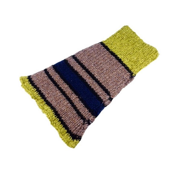 Brown, Green and Blue - Knitted Snood