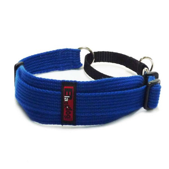 Blue - Black Dog Collar