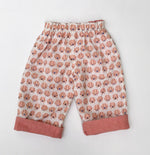 Load image into Gallery viewer, flannel reversible pants in Charley Harper Piggie - little girl Pearl