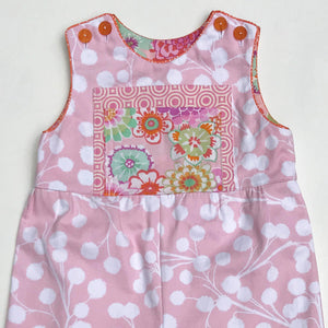 classic kid overalls in pink cali mod - little girl Pearl