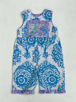 Load image into Gallery viewer, classic kid overalls french blue and ivory - little girl Pearl