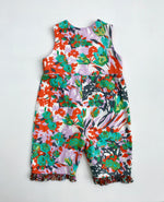 Load image into Gallery viewer, classic kid overalls in bright heart floral - little girl Pearl