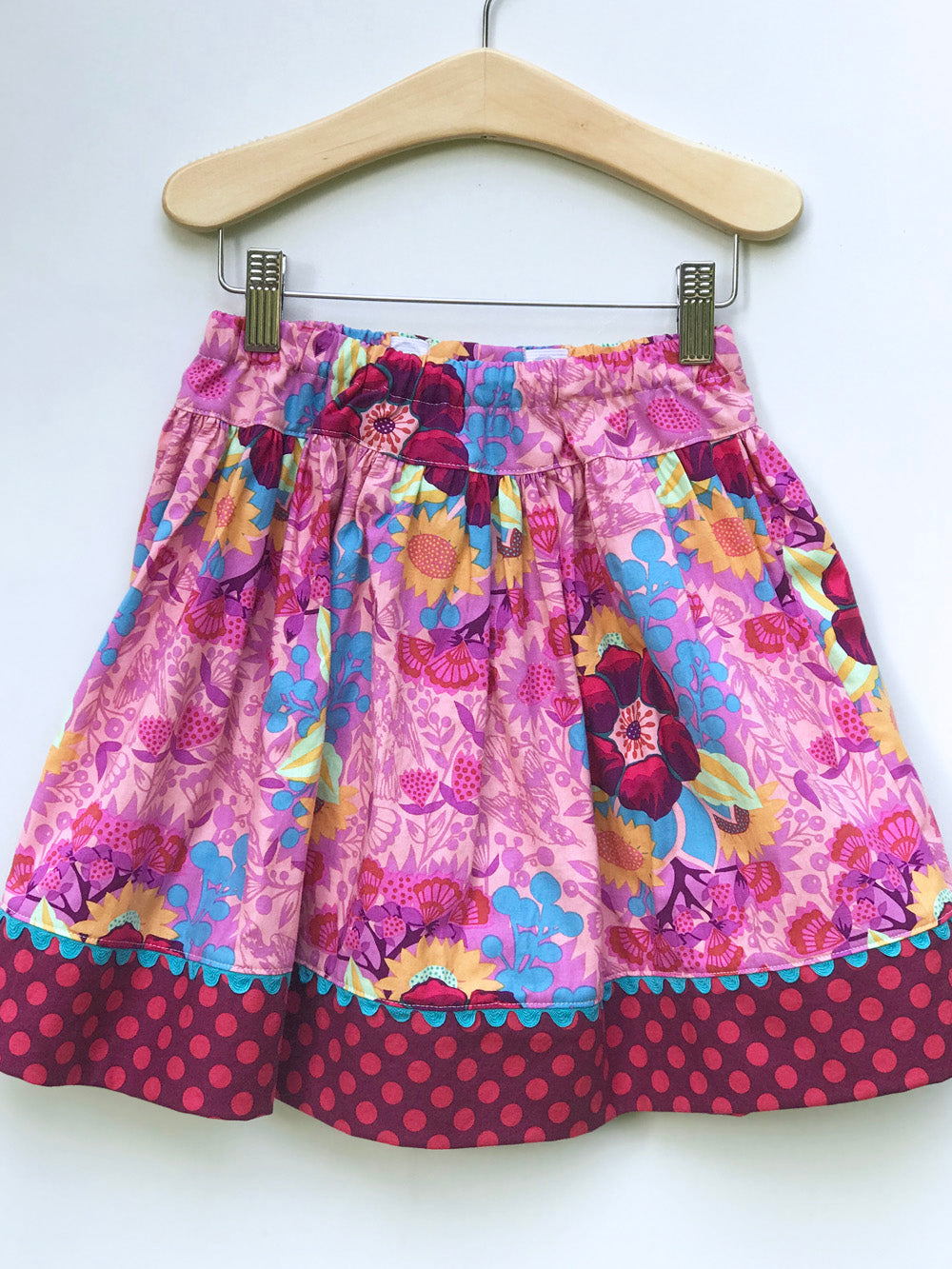 favorite twirl skirt in pink centerpiece - little girl Pearl