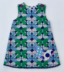 reversible butterfly pocket jumper dress no. 2 - little girl Pearl