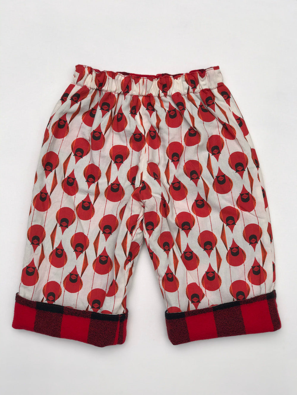 reversible pants in charley harper cardinal - little girl Pearl