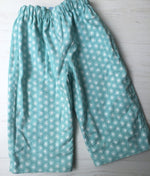 Load image into Gallery viewer, flannel reversible pants in park tree - little girl Pearl