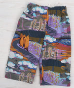 Load image into Gallery viewer, flannel reversible pants in dark enchanted - little girl Pearl