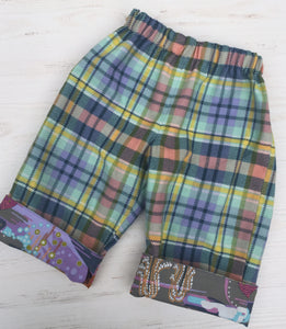 flannel reversible pants in dark enchanted - little girl Pearl