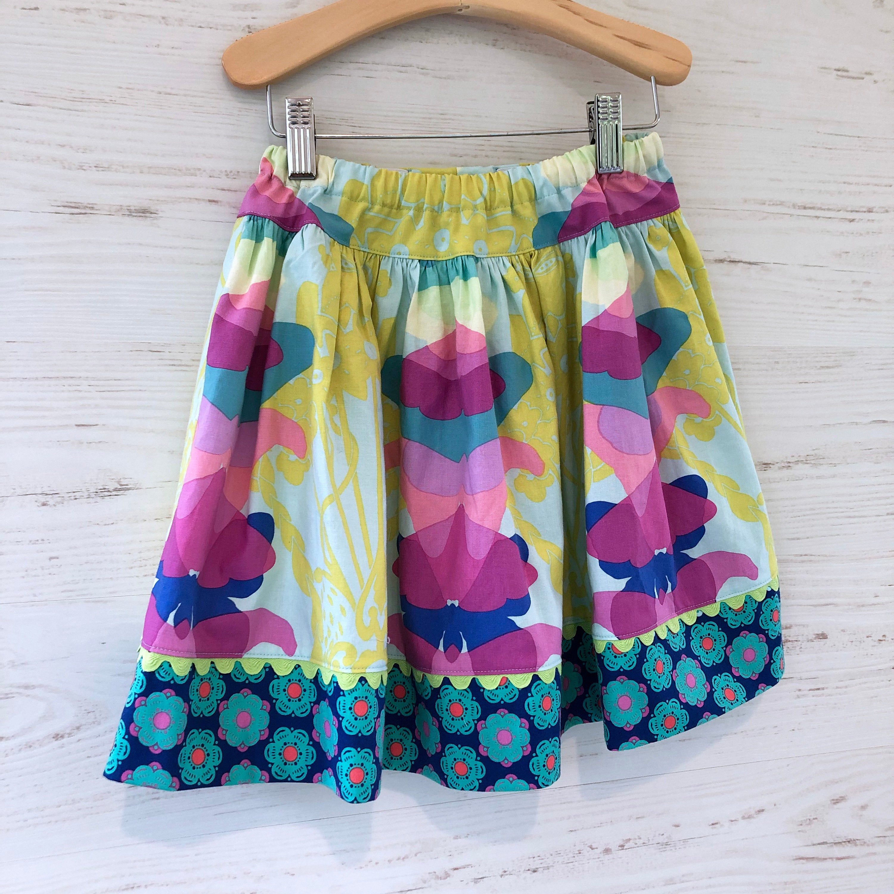 favorite twirl skirt in aqua ghost nouveau - little girl Pearl