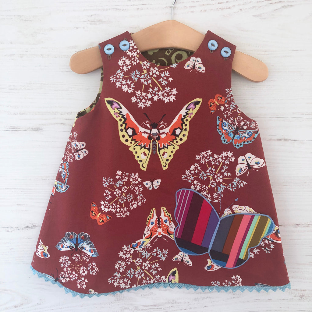 reversible butterfly pocket jumper - little girl Pearl