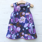 Load image into Gallery viewer, reversible corduroy stripe dress in lavender - little girl Pearl