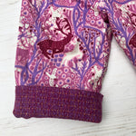 Load image into Gallery viewer, Flannel reversible pants in deer of the forest - little girl Pearl