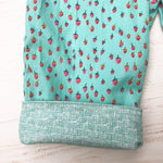 Load image into Gallery viewer, flannel reversible pants in mint strawberry - little girl Pearl