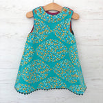Load image into Gallery viewer, ghost wing asymmetric reversible jumper dress in coffee, LIMITED EDITION - little girl Pearl