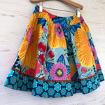 Load image into Gallery viewer, favorite twirl skirt in bold golden big bloom - little girl Pearl