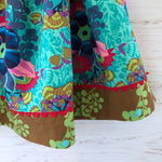Load image into Gallery viewer, favorite twirl skirt in jade floral bouquet, sizes 3T 4T 5 6 7 8 - little girl Pearl