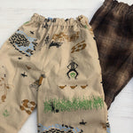 Load image into Gallery viewer, Flannel reversible pants Charley Harper Cowboy - little girl Pearl