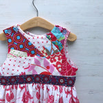 Load image into Gallery viewer, mad patchwork jumper dress in red, size 5, one of a kind - little girl Pearl