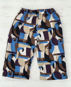 flannel reversible pants in toucan - little girl Pearl