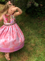Load image into Gallery viewer, mad patchwork jumper dress in lilac, size 5, one of a kind - little girl Pearl