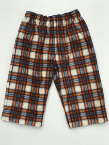 reversible flannel pants in Charley Harper wood duck - little girl Pearl