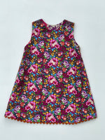 Load image into Gallery viewer, bird pocket reversible jumper dress - little girl Pearl