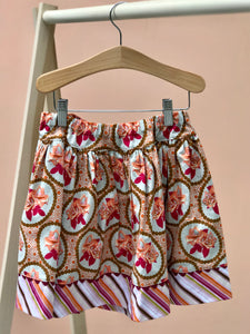 favorite twirl skirt in fall garden portrait - little girl Pearl