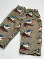 Load image into Gallery viewer, reversible flannel pants in Charley Harper wood duck - little girl Pearl