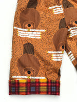 Load image into Gallery viewer, reversible pants in Charley Harper beaver chew - little girl Pearl