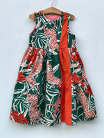 Load image into Gallery viewer, ruffle pop dress in bengal tiger, LIMITED EDITION - little girl Pearl