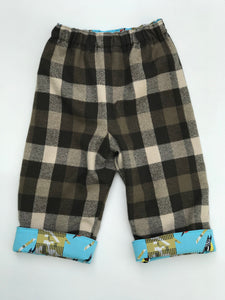 reversible pants in Charley Harper camo woodpecker - little girl Pearl