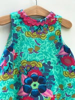 Load image into Gallery viewer, reversible intertwine dress in jade and peach - little girl Pearl