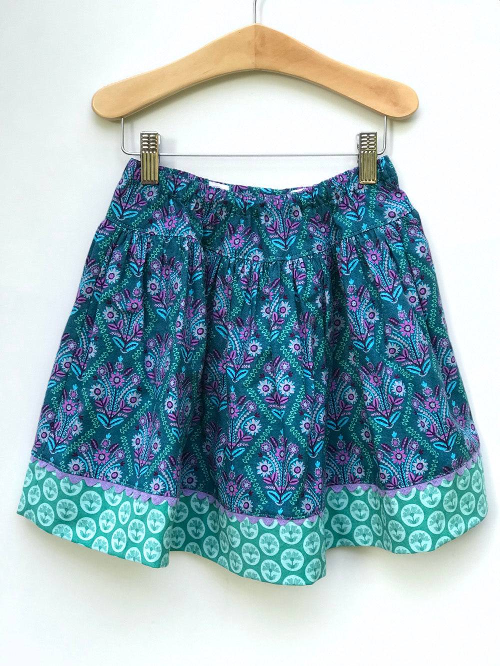 favorite twirl skirt in jade stitchery - little girl Pearl