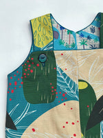 Load image into Gallery viewer, reversible romper in jungle map, LIMITED EDITION - little girl Pearl