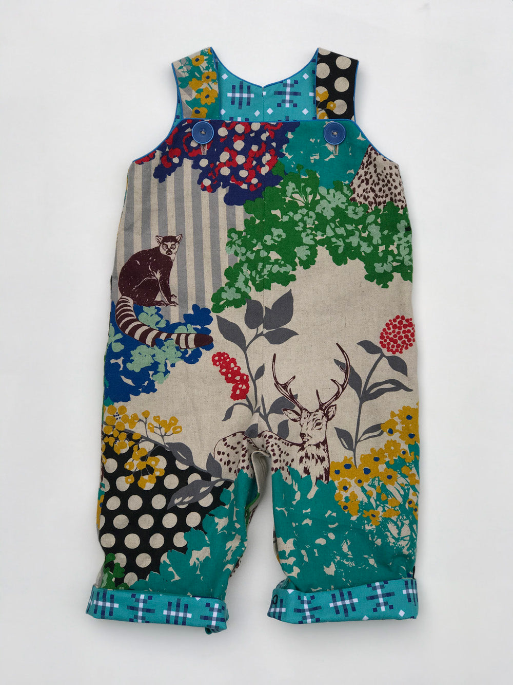 reversible overalls in jungle fever, LIMITED EDITION - little girl Pearl