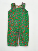 Load image into Gallery viewer, reversible overalls in natural balancing bird - little girl Pearl