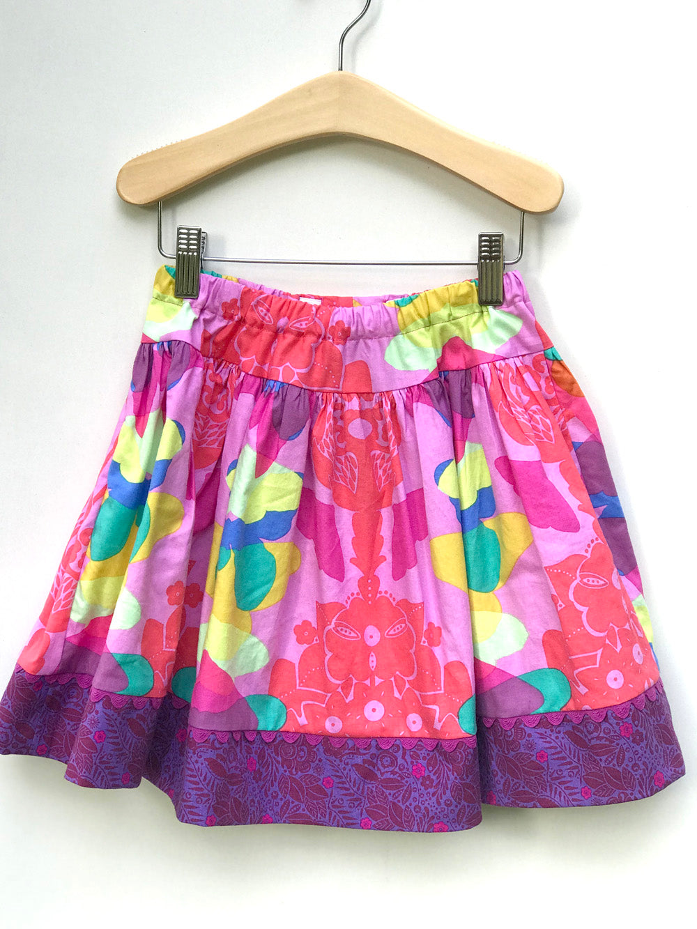 favorite twirl skirt in rainbow ghost nouveau - little girl Pearl