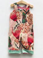 Load image into Gallery viewer, reversible overalls in pink protea - little girl Pearl