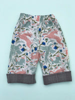 Load image into Gallery viewer, reversible pants in mythical creatures - little girl Pearl