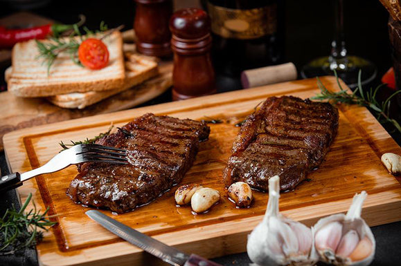 Garlic Dijon Grilled Steaks